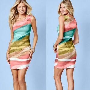 Venus Watercolor Making Waves Bodycon Dress